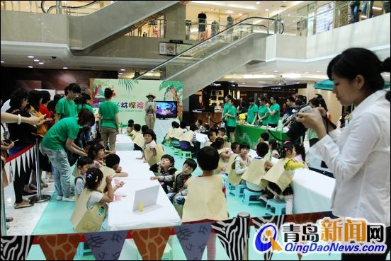 丛林景观惊现青岛春天广场 儿童冒险全家总动员