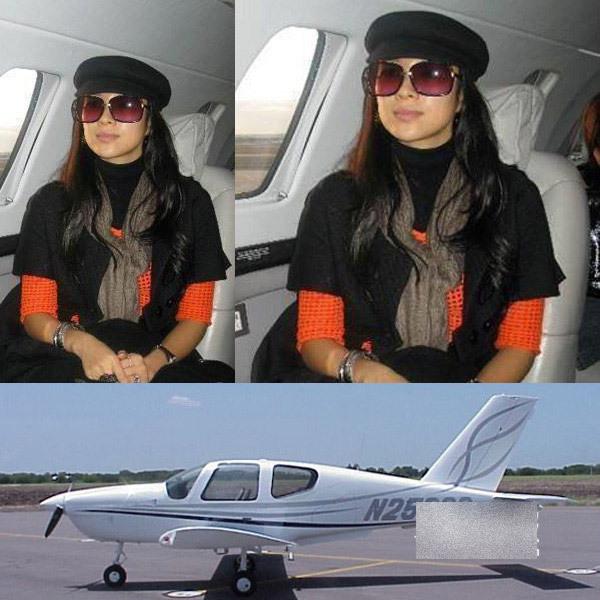 拥有私人飞机的奢华女星