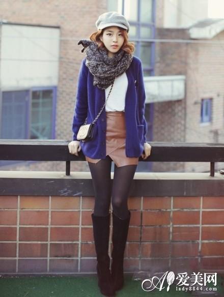 外套+围巾的各种围法 冬日保暖搭