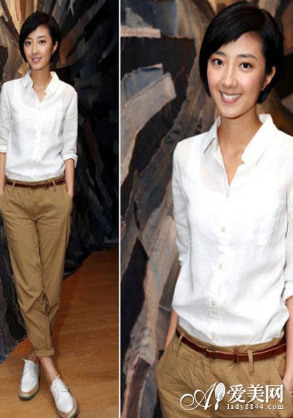 时尚 衬衣/巧搭白衬衣 时尚潮人LOOK5.