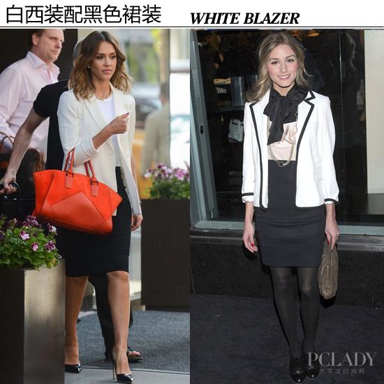 【白色西装*黑色短裙】-青岛降温职场小嫚西装上阵 演绎白领心计图片