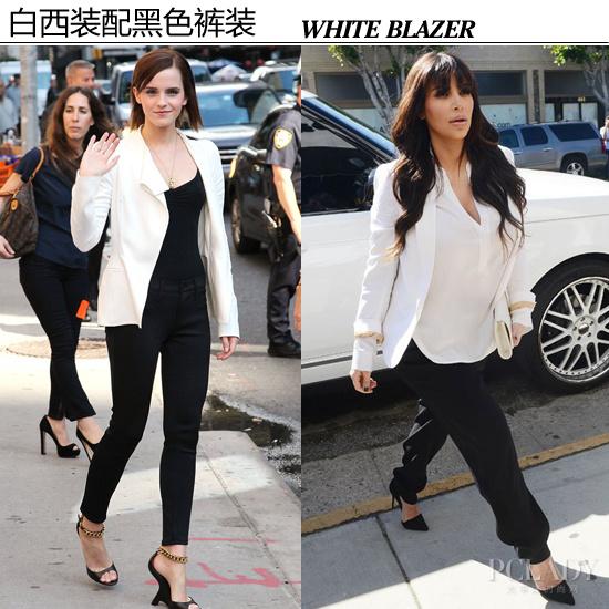 【白色西装*黑色下装】-青岛降温职场小嫚西装上阵 演绎白领心计图片