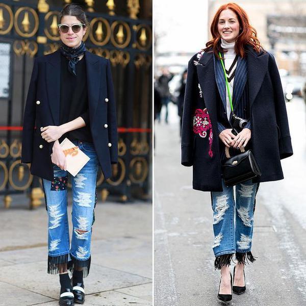 本季牛仔裤怎么穿才对 流苏涂鸦彰显时尚态度