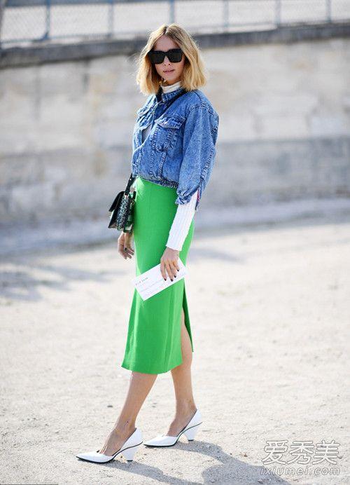 2017流行色草木绿穿搭攻略 紧跟时尚潮流 服装色彩搭配