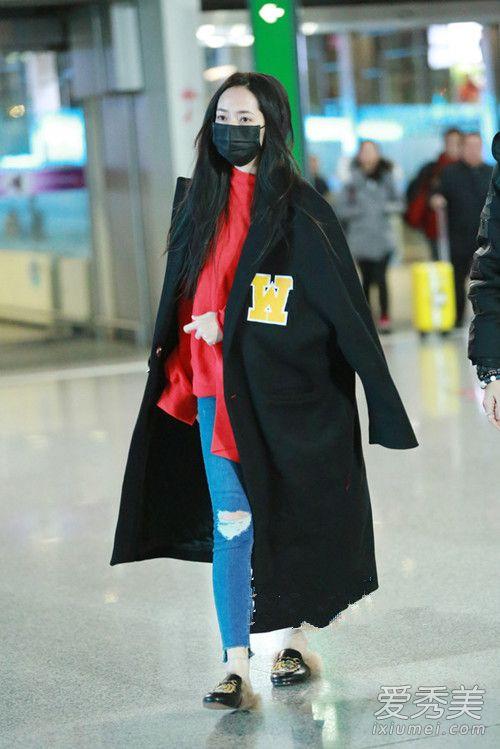 华语女星机场街拍 倪妮裹成球何洁狂露腿
