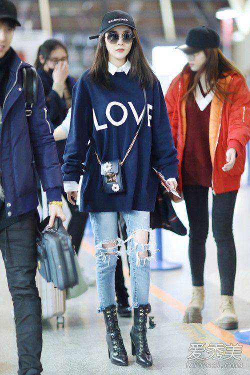 明星机场街拍 青岛姑娘春季搭配学她们