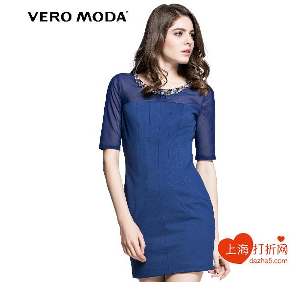 VeroModa2014新款秋装圆领弹力宴会礼服裙女连衣裙|314361004-图片