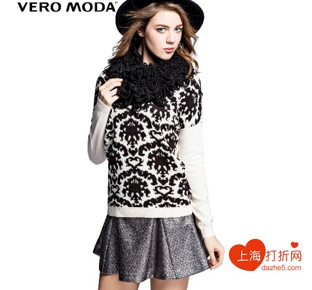 VeroModa2014新款秋冬宽松复古印花女针织衫|314313002-VeroModa图片